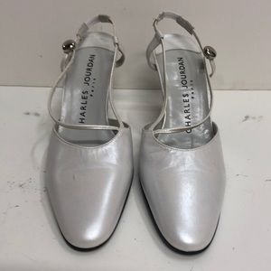 Charles Jourdan Made in Italy White Leather Pump